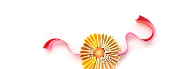 Big Bash Events icon of a flower, quilled 3-dimensional ar