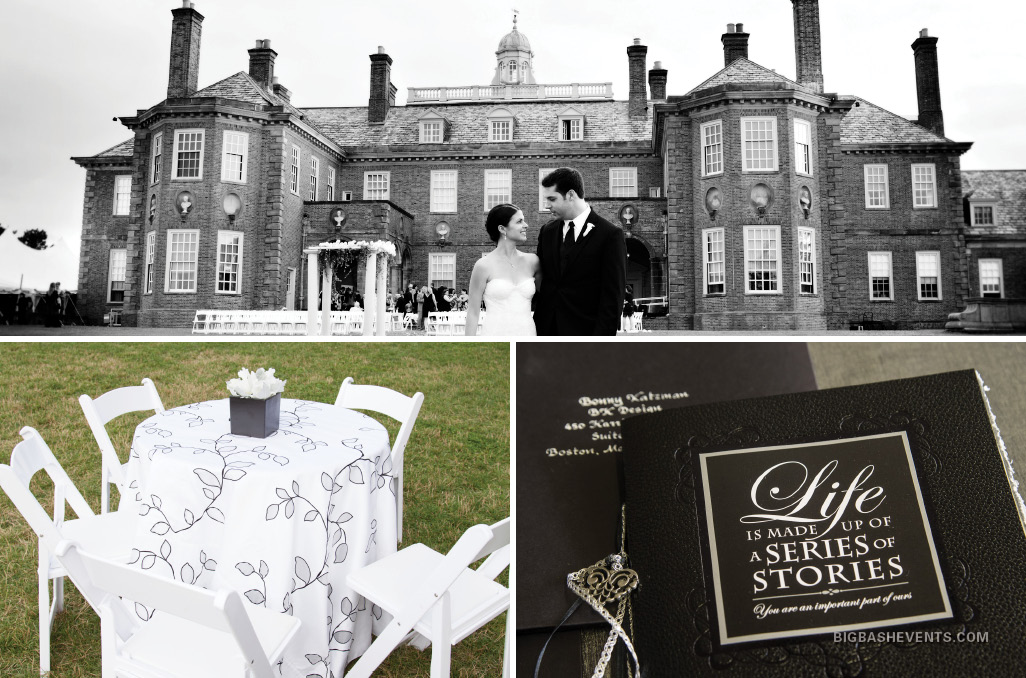 An invitation that was a hand-bound book and a castle-like location set the stage for a storybook wedding based on 'The Neverending Story', Boston Event Planner, Boston Event Planning, Boston Event Stylist, Boston Event Styling